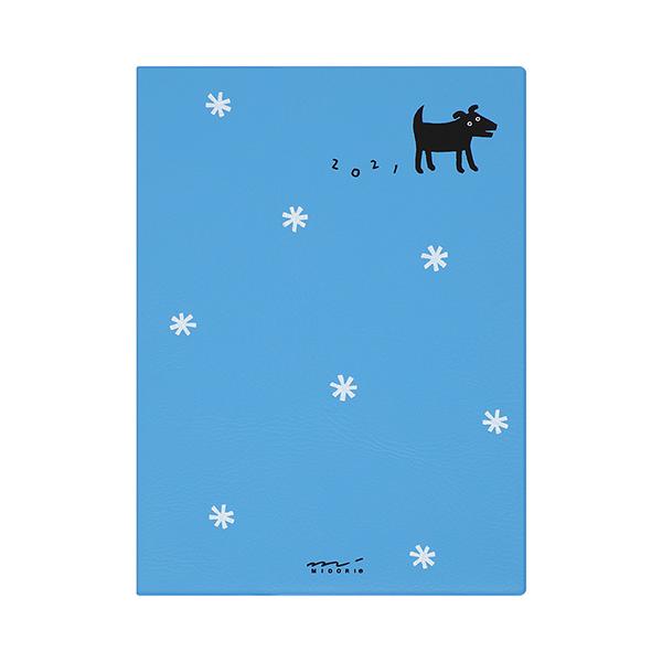 Midori MD 2021 Pocket Diary A6 Black Dog