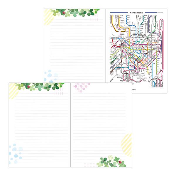 Midori MD 2021 Pocket Diary A6 Clover