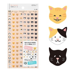 Midori Sticker Collection Schedule Cat