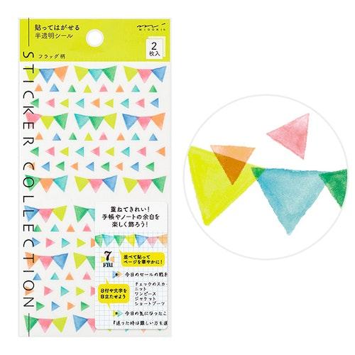 Midori MD Sticker Schedule Flag