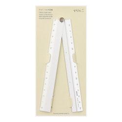Midori Multiple Ruler [30 cm] Silver