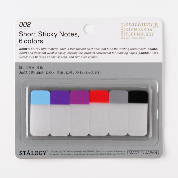 Stálogy 008 Short Sticky Notes, 6 colours