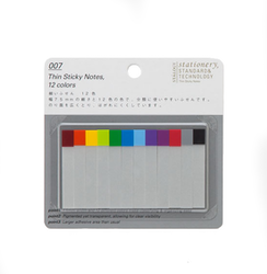 Stálogy 007 Thin Sticky Notes, 12 colours