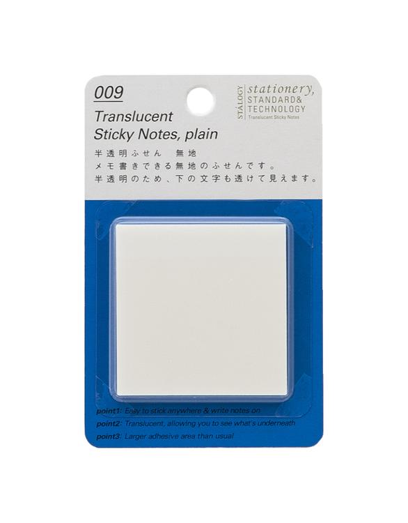 Stálogy 009 Translucent Sticky Notes, Plain