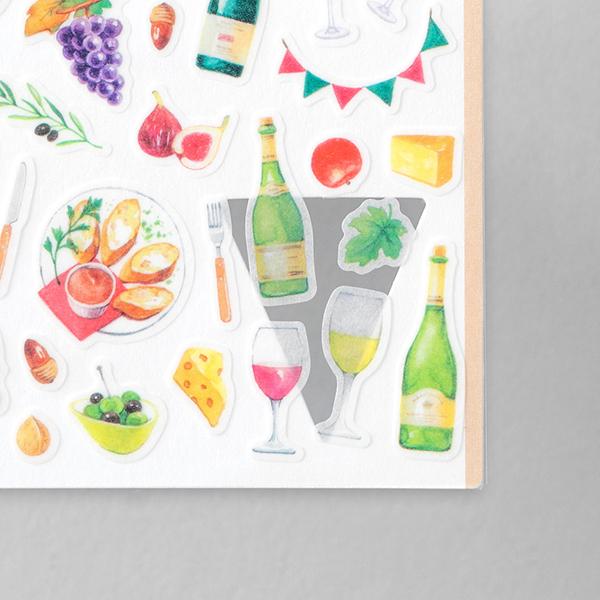 Midori Sticker Marché Wine