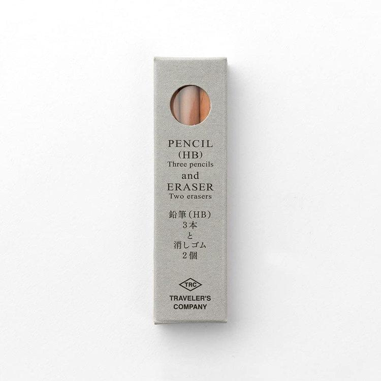 Traveler's Company Pencil Refill (3 pennor och 2 suddgummi)