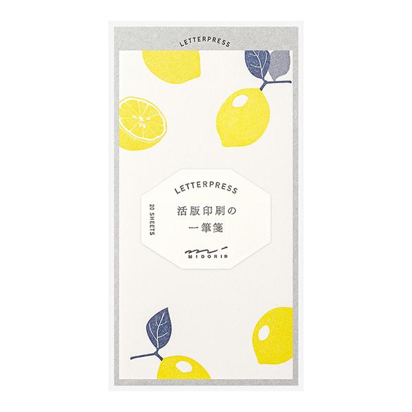 Midori One Stroke Letterpress Lemon