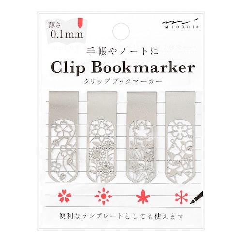 Midori Clip Bookmarker Flower