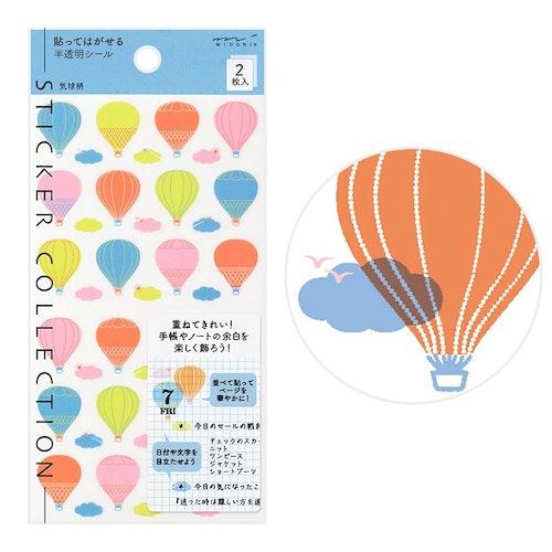 Midori MD Sticker Schedule Balloon