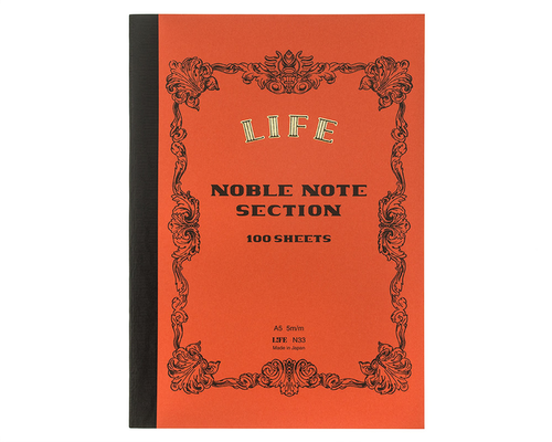 LIFE Noble Notebook A5 Rutad