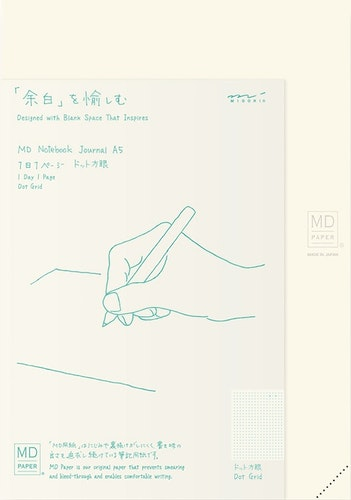 Midori MD Notebook A5 Codex 1Day 1Page Dot Grid