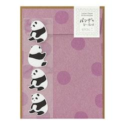 Midori Letter Set Panda