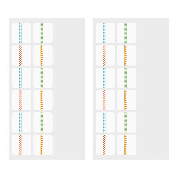 Midori Index Label Chiratto Stickers Pattern Color