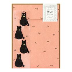 Midori Letter Set Black Cat