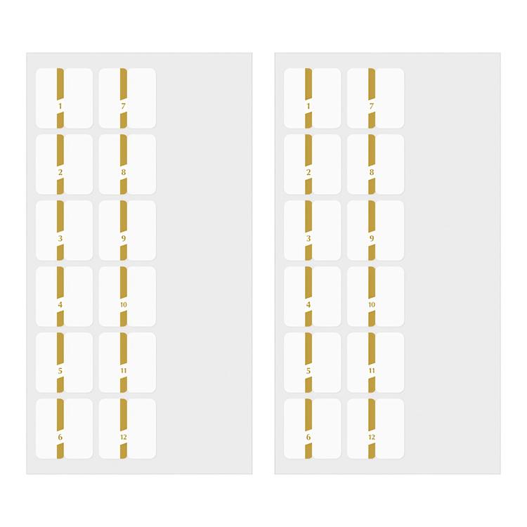 Midori Index Label Chiratto Stickers Number Gold