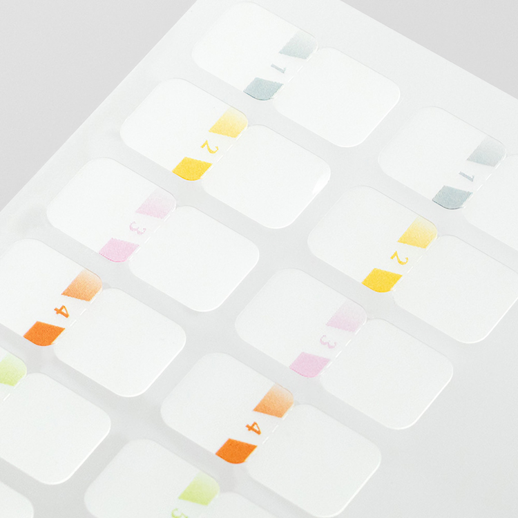 Midori Index Label Chiratto Stickers Number Color