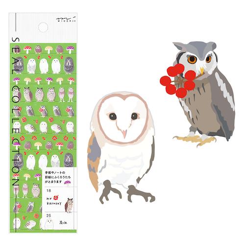 Midori Seal Collection Owl