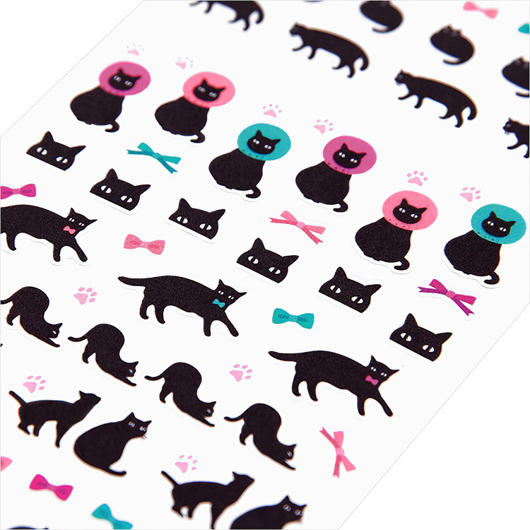Midori Seal Collection Black Cat