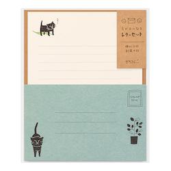 Midori Letter Set Egao Cat