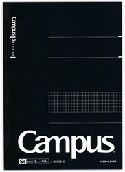 Kokuyo Campus Business Notebook A4 Rutad Svart