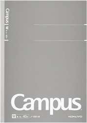 Kokuyo Campus Business Notebook B5 Blank Grå