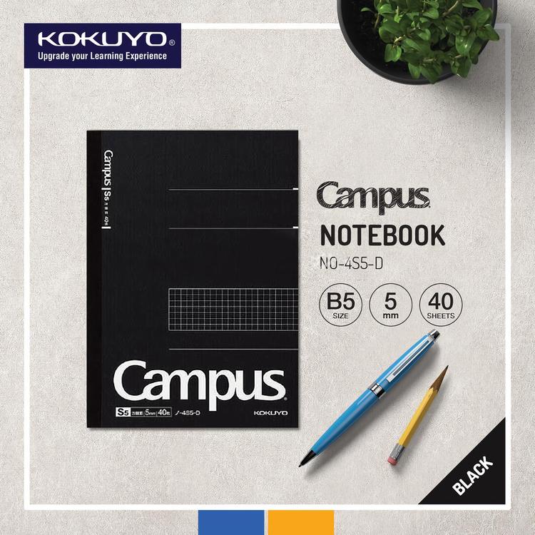 Kokuyo Campus Business Notebook B5 Rutad Svart
