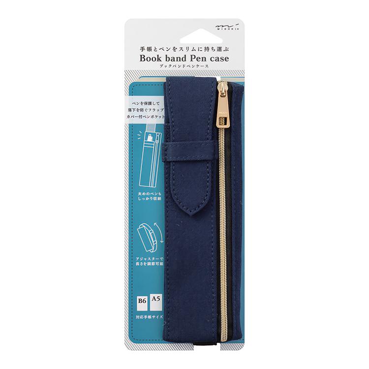 Midori Book Band Pen Case (B6–A5)