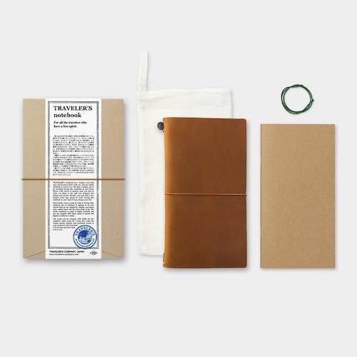 Traveler's Company Traveler's notebook – Camel, Regular size (Starter Kit)
