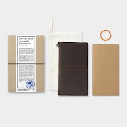Traveler's Company Traveler's notebook – Brown, Regular size (Starter Kit)