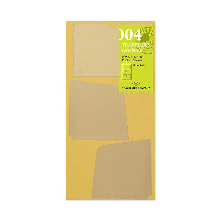 Traveler's Company Traveler's notebook - 004 Pocket Sticker
