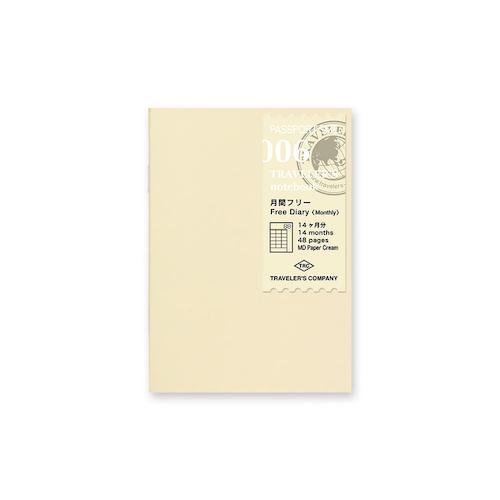 Traveler's Company Traveler's notebook - 006 Free Monthly Diary, Passport Size