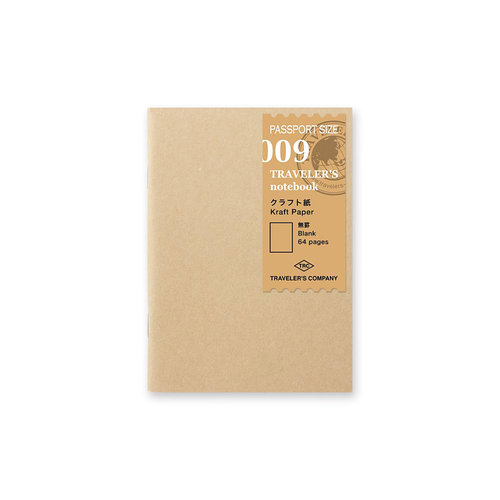 Traveler's Company Traveler's notebook - 009 Kraft Paper Notebook, Passport Size