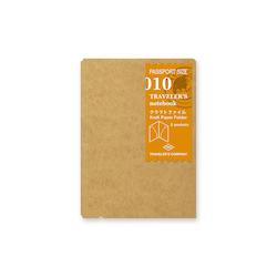Traveler's Company Traveler's notebook - 010 Kraft Paper Folder, Passport Size