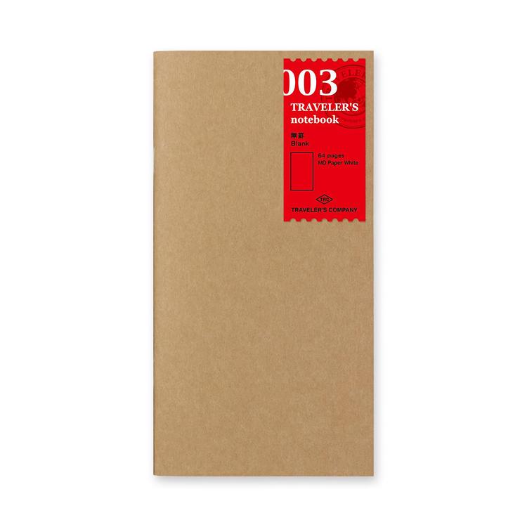 Traveler's Company Traveler's notebook - 003 Blank Notebook, Regular Size