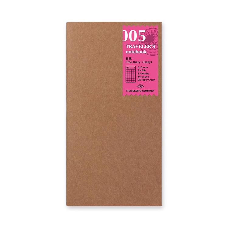 Traveler's Company Traveler's notebook - 005 Free Diary (Daily), Regular Size