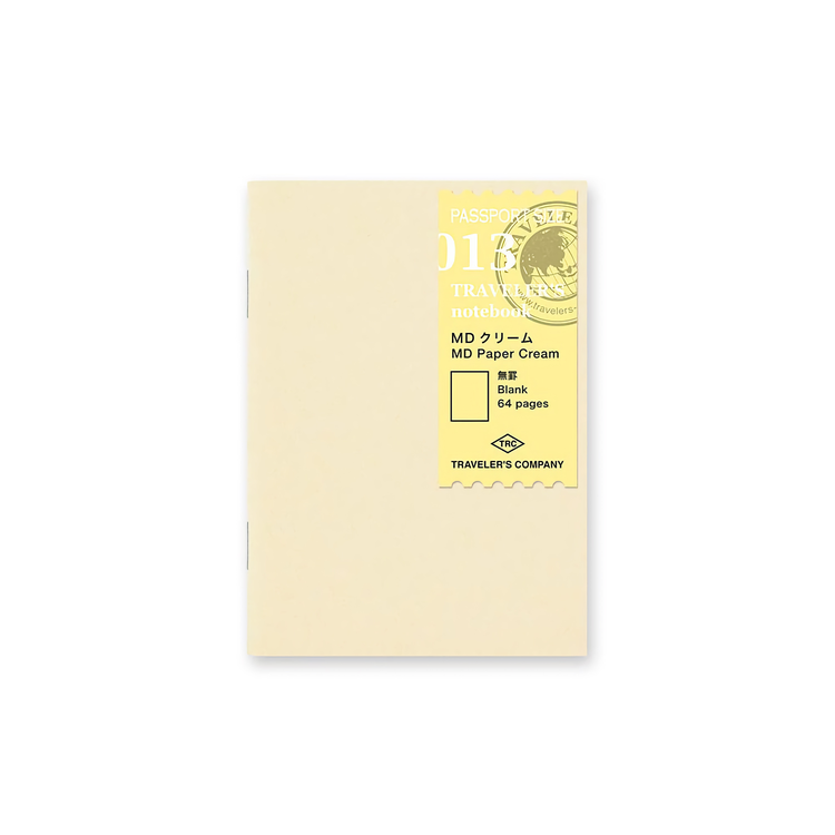 Traveler's Company Traveler's notebook - 013 MD Paper Cream, Passport Size