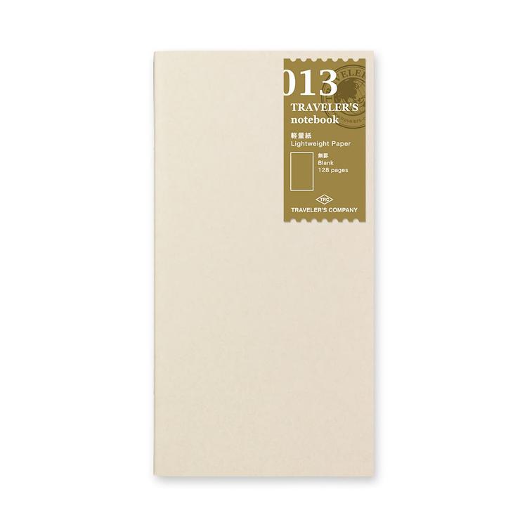 Traveler's Company Traveler's notebook - 013 Lightweight Paper Notebook, Regular Size