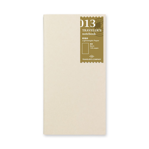Traveler's Company Traveler's notebook - 013 Lightweight Paper Notebook, Regular Size