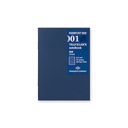 Traveler's Company Traveler's notebook - 001 Lined Notebook, Passport Size