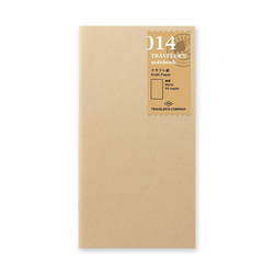 Traveler's Company Traveler's notebook - 014 Kraft Paper Notebook, Regular Size