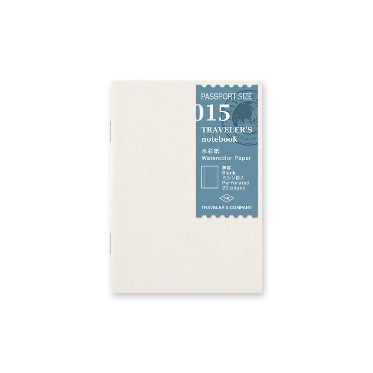 Traveler's Company Traveler's notebook - 015 Watercolor Paper, Passport Size
