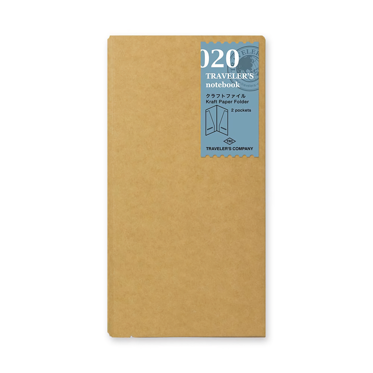 Traveler's Company Traveler's notebook - 020 Kraft Paper Folder, Regular Size