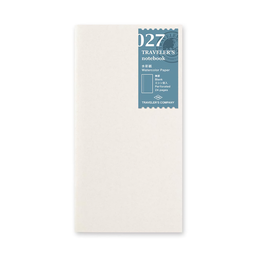 Traveler's Company Traveler's notebook - 027 Watercolor Paper, Regular Size