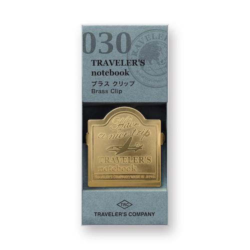 Traveler's Company Traveler's notebook - 030 Brass Clip Airplane