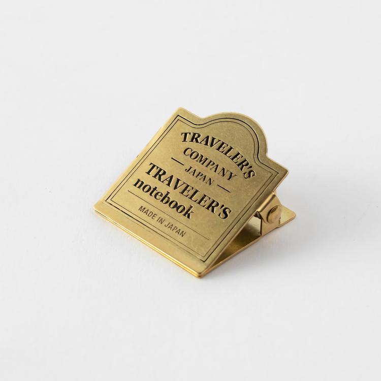 Traveler's Company Traveler's notebook - 030 Brass Clip TRC Logo