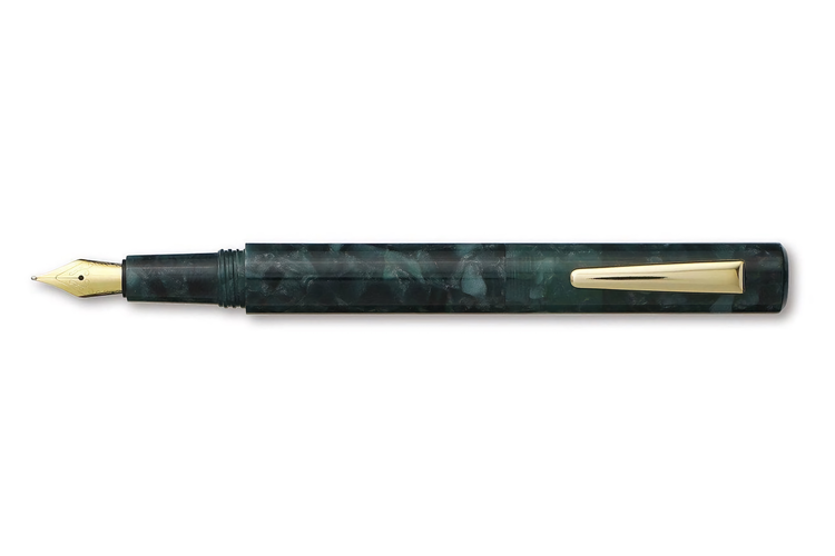 Hightide Attache Marbled Fountain Pen Grön