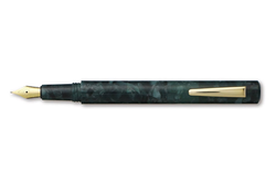 Hightide Attache Marbled Fountain Pen Grön