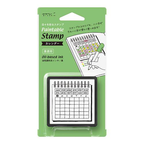 Paintable Stamp Pre-inked Calendar