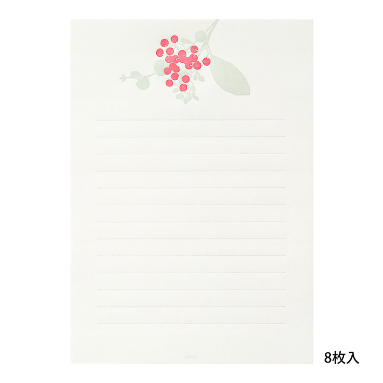 Midori Letterpress Bouquet Red