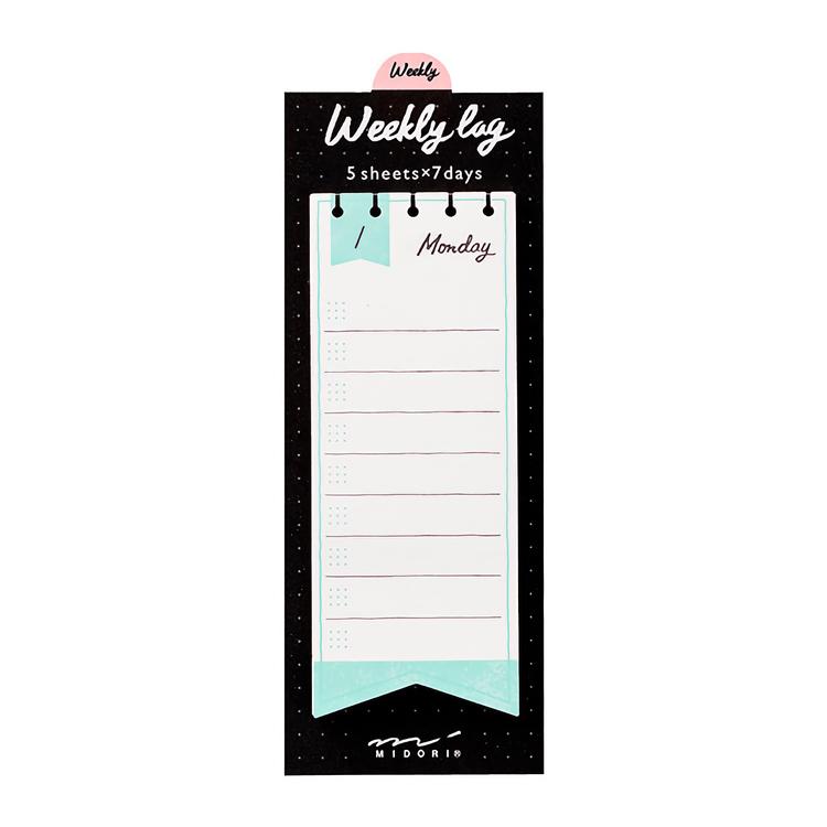 Midori Journal Sticky Note Weekly Log Ribbon
